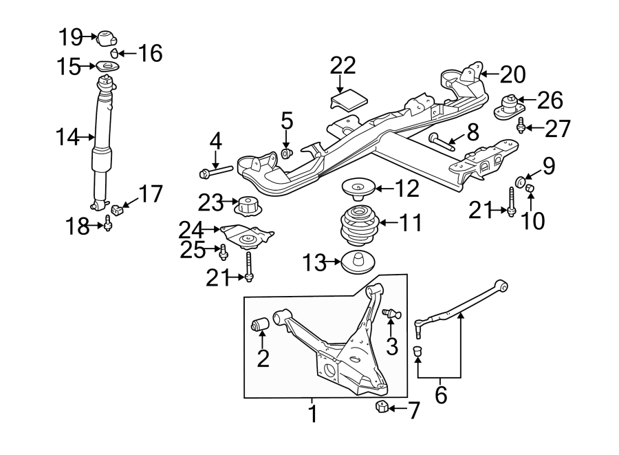 Buick Lesabre Arm  Link  Lateral   Rear  Lower