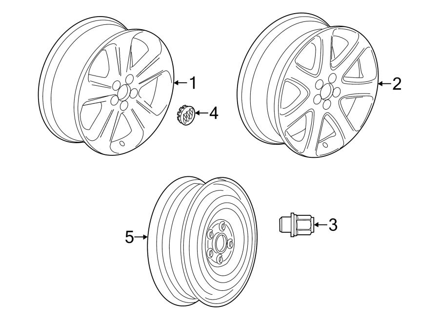 buick encore wheel  spoke  code  alloy