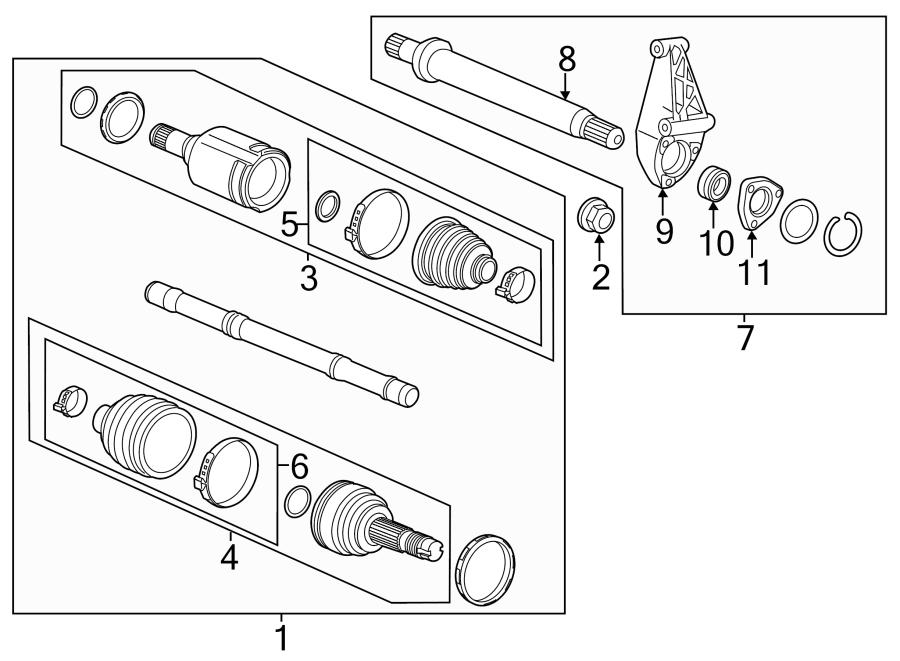 Buick Encore Boot  Kit  Joint  Cv  Inner  S  Encore  Left