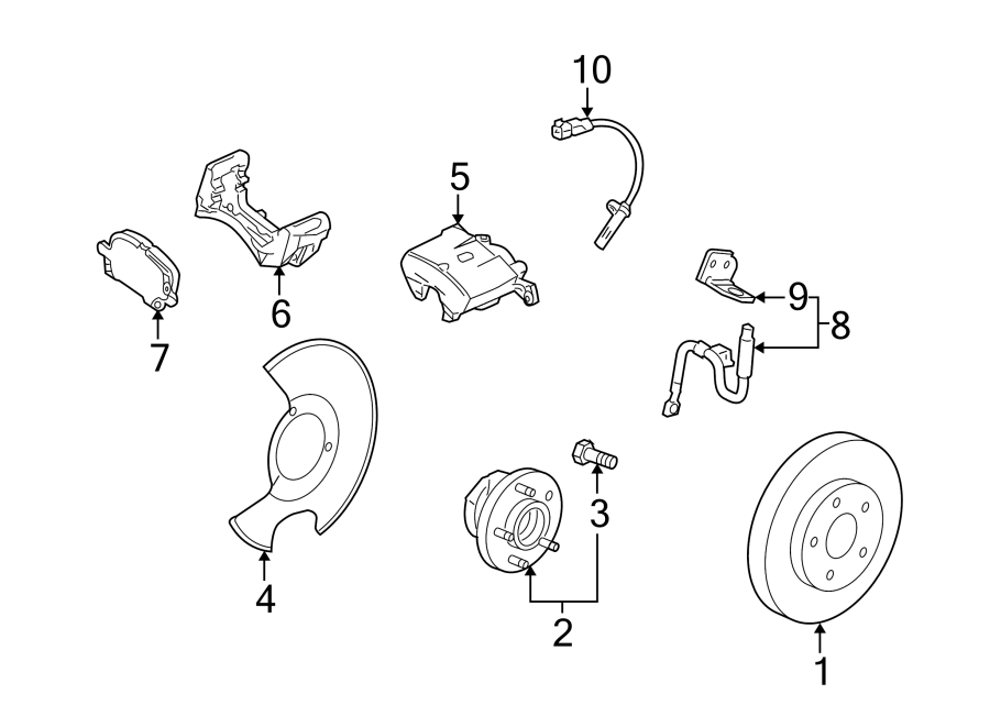 cadillac srx wheel bearing and hub assembly  front   suspension  rear  control