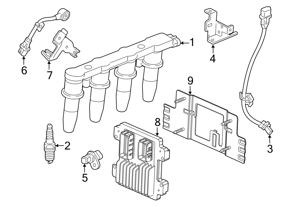 Chevrolet Sonic Engine Crankshaft Position Sensor  Ignition  Repair  Liter