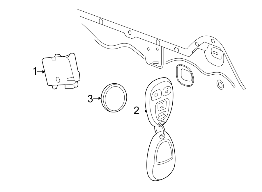 chevrolet cobalt keyless entry receiver  receiver assembly - r  con door locking  tire