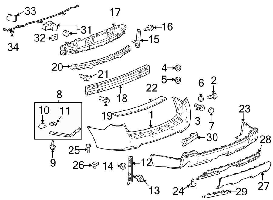 Gmc Terrain Sensor   Rear   Obstacle  Leftblind  Footsweep