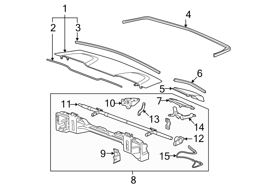 Pontiac G6 Boot Cover  Panel  Convertible  Compartment