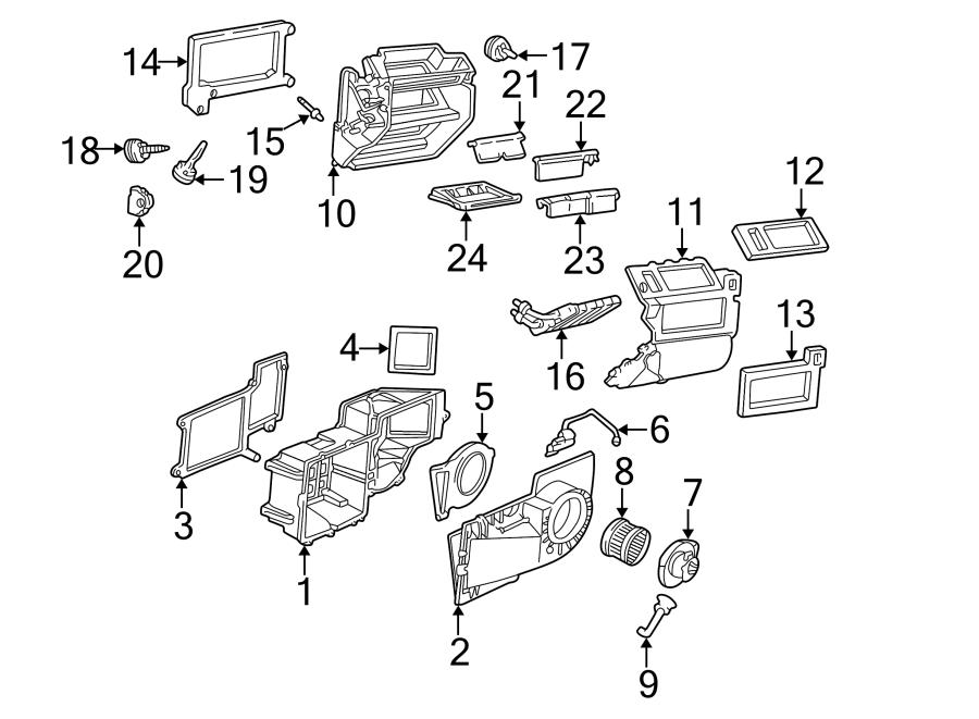 2000 Chevrolet Express 3500 Hvac Defrost Mode Door Actuator  Hvac Floor Mode Door Actuator