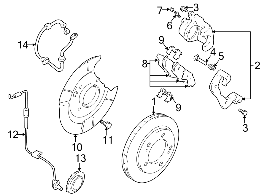 Chevrolet Tracker Brake Dust Shield  2 Wheel Drive  4