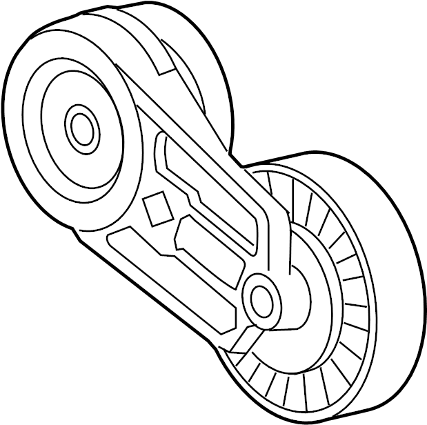buick regal accessory drive belt tensioner assembly
