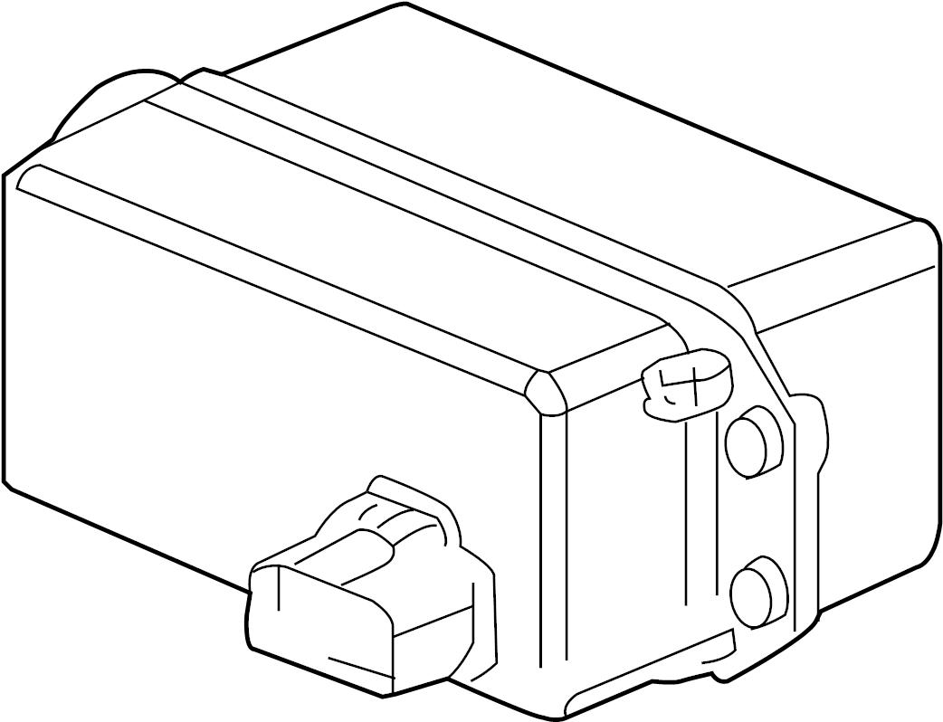 2004 cadillac xlr control module  distance sensor  2004