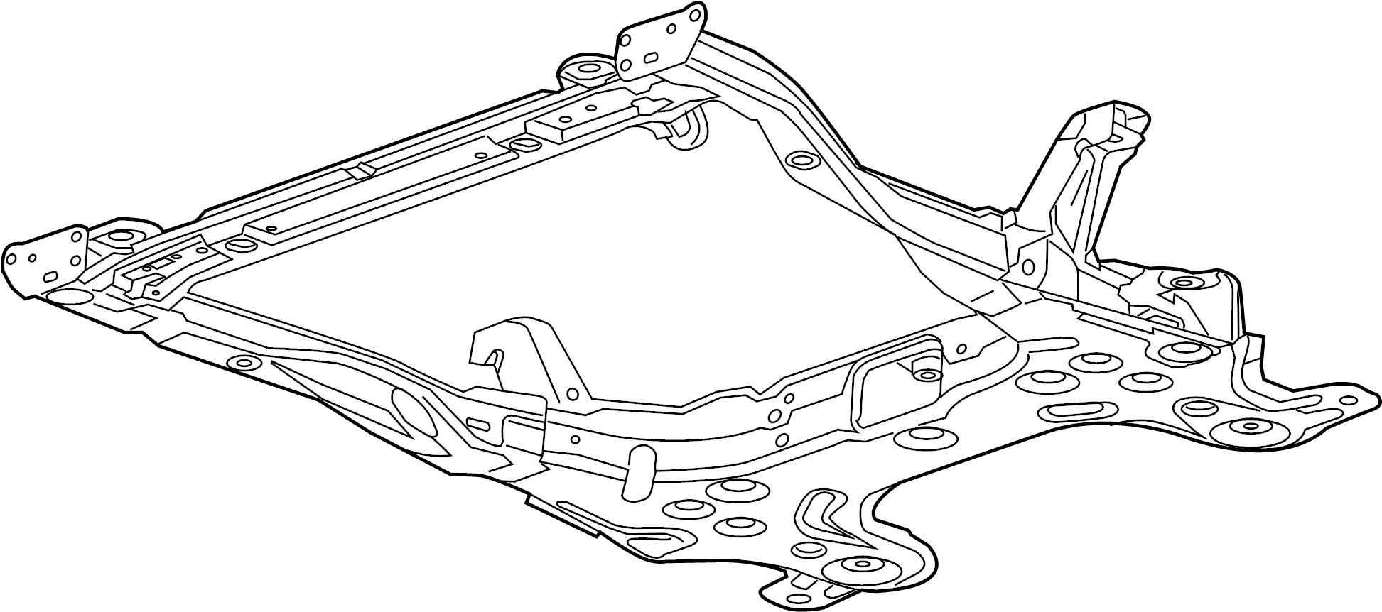 chevrolet sonic frame  suspension crossmember  front