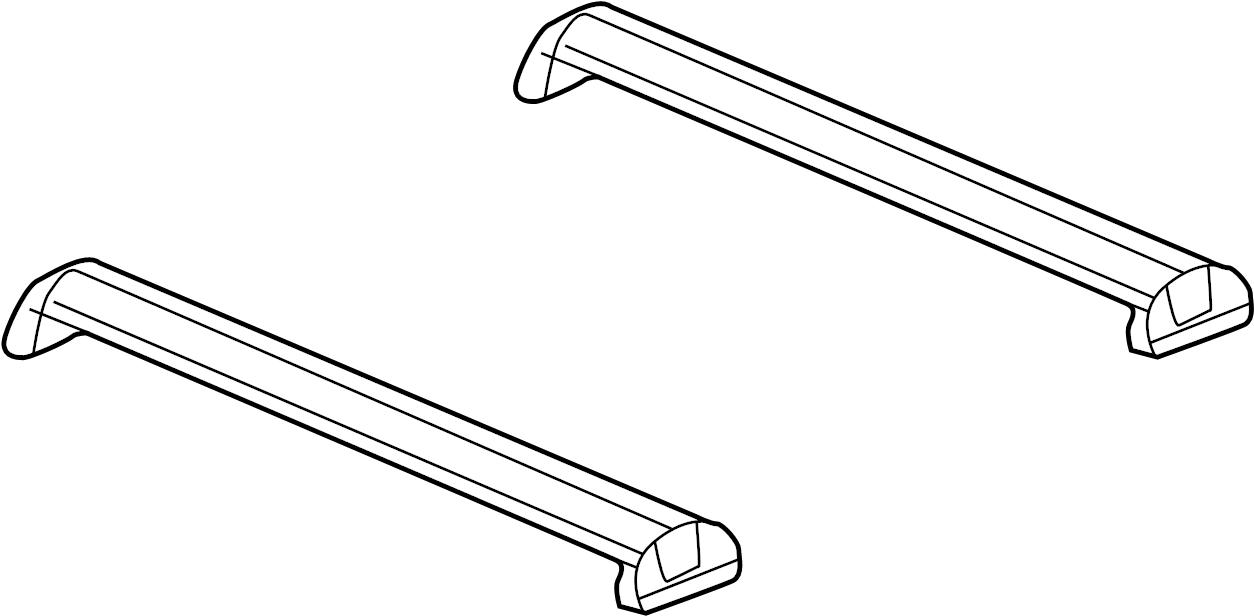 Saturn Vue Rail Roof Luggage Rack Cross Carrier