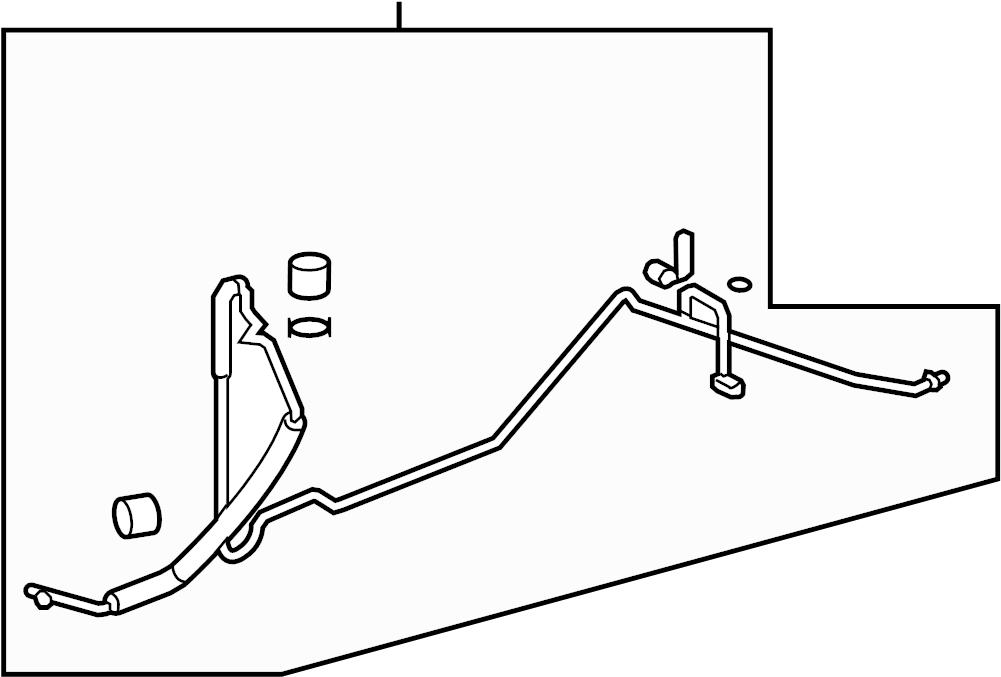 gmc acadia hose  tube  buick  chevrolet  gmc  saturn  rear